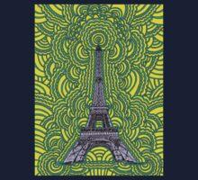 Eiffel Tower Drawing Meditation One Piece - Long Sleeve
