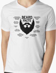 Beard Facts (black) Mens V-Neck T-Shirt