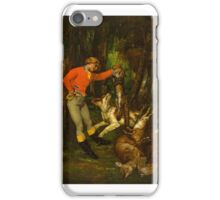 After the Hunt , Gustave Courbet, iPhone Case/Skin