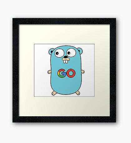google go programming language color Framed Print