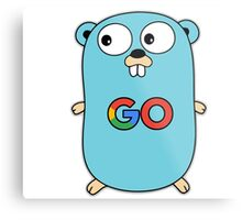 google go programming language color Metal Print
