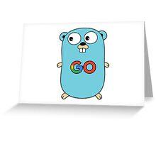 google go programming language color Greeting Card
