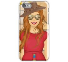 The Red Cowgirl iPhone Case/Skin