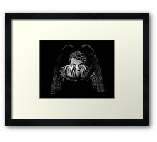 Weeping Angel Castiel Framed Print