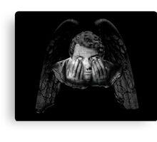 Weeping Angel Castiel Canvas Print