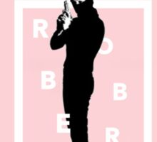the 1975 robbers pink design Sticker