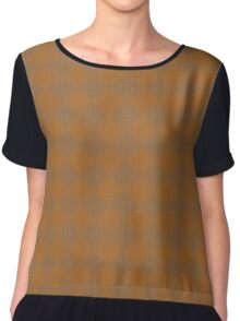 brown, rhombus, geometric pattern Chiffon Top