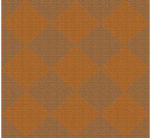 brown, rhombus, geometric pattern Photographic Print