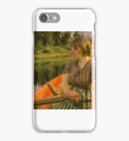 Anders Zorn , boating, iPhone Case/Skin