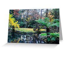 Alfred Nichols Gardens in the Dandenongs Greeting Card