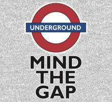 TUBE, London, Underground, Mind the gap, BRITISH, BRITAIN, UK, English,on WHITE One Piece - Long Sleeve
