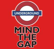 TUBE, London, Underground, Mind the gap, BRITISH, BRITAIN, UK, English, on WHITE One Piece - Long Sleeve