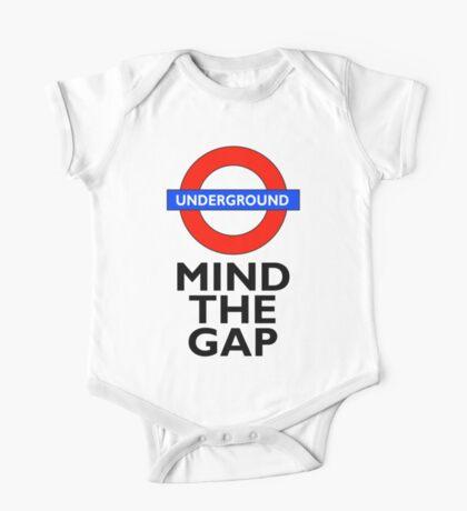 TUBE, London, Underground, Mind the gap, BRITISH, BRITAIN, UK, English, on WHITE One Piece - Short Sleeve