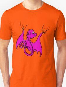 Pink Dragon Rider Unisex T-Shirt