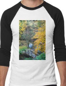 Alfred Nichols Gardens in the Dandenongs Men's Baseball ¾ T-Shirt