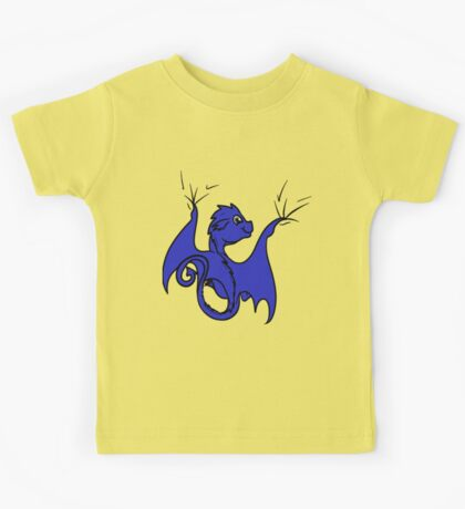 Blue Dragon Rider Kids Tee