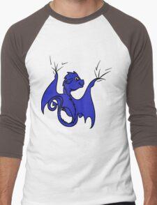 Blue Dragon Rider Men's Baseball ¾ T-Shirt