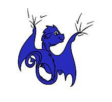Blue Dragon Rider Photographic Print