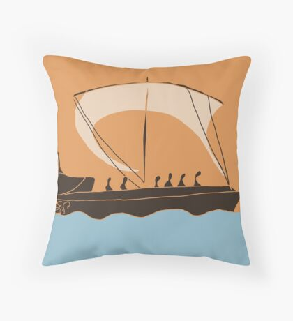Ancient Greek Vessel Throw Pillow