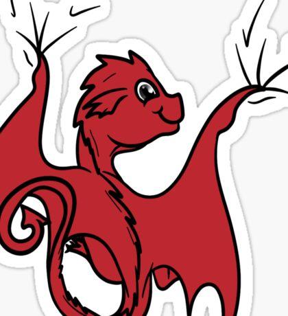 Red Dragon Rider Sticker