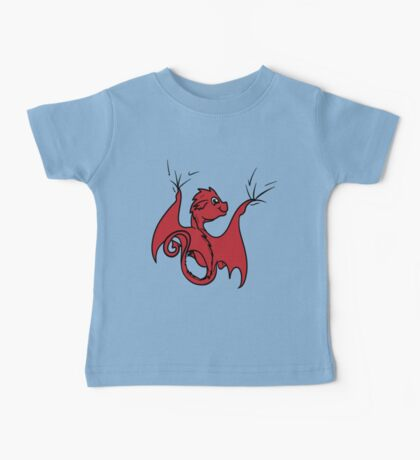Red Dragon Rider Baby Tee