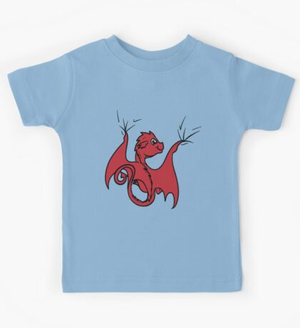 Red Dragon Rider Kids Tee