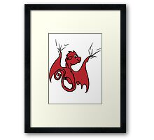 Red Dragon Rider Framed Print