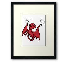 Red Dragon Rider Framed Print