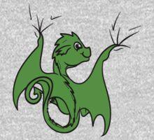 Green Dragon Rider One Piece - Short Sleeve