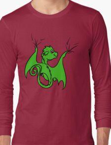 Green Dragon Rider Long Sleeve T-Shirt