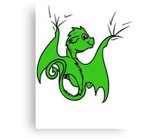Green Dragon Rider Canvas Print