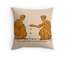 Two Ancient Greek Women  Throw Pillow