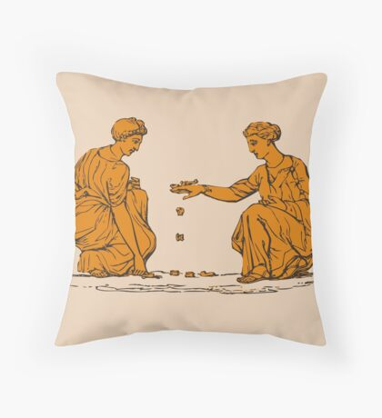 Two Ancient Greek Women  Throw Pillow