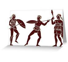 Three Greek Warriors  Greeting Card