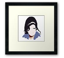 Amy Winehouse Abstract Design Framed Print