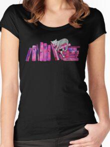 FanGirl Bookshelf Women's Fitted Scoop T-Shirt