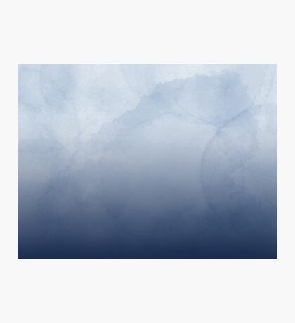 Muted Blue - Abstract Watercolor Photographic Print
