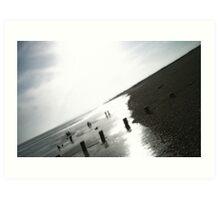 Cooden Beach East Sussex Art Print
