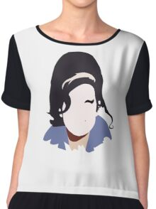 Amy Winehouse Abstract Design Chiffon Top