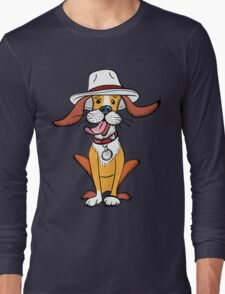 Funny dog in hat Long Sleeve T-Shirt