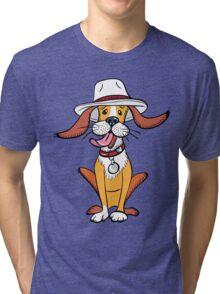 Funny dog in hat Tri-blend T-Shirt