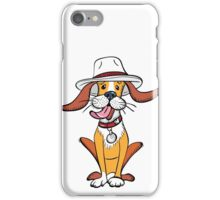 Funny dog in hat iPhone Case/Skin