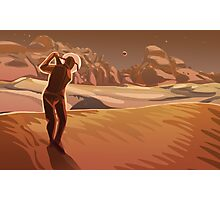 Golfing on Mars Photographic Print