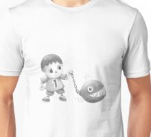 The villager walks his chomp Unisex T-Shirt
