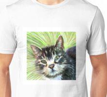 Wide Green Eyed Cat Unisex T-Shirt