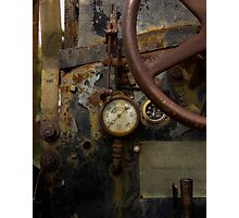 Rusty controls Photographic Print