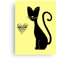 """Lovely cat meows in """"Yellow"""" Canvas Print"""