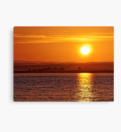 Misty Sunrise over Moray Firth Canvas Print