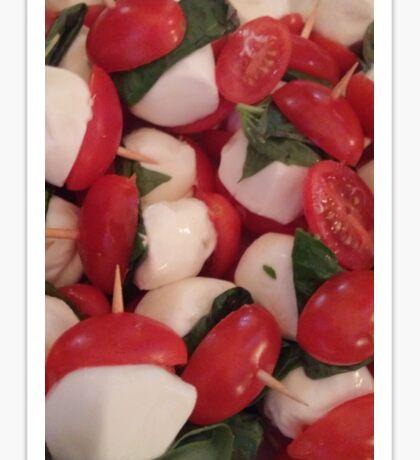 Tomatoes and Mozzarella Sticker