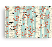 In the Birch Trees Canvas Print